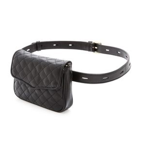 REBECCA MINKOFF affair quilted leather fanny pack